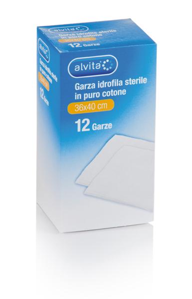 Alvita Garza Sterile 36x40cm 12 Pezzi