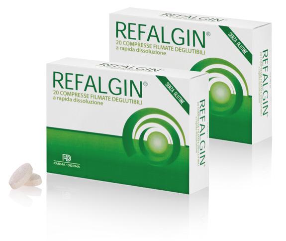 Farma Derma Refalgin® Compresse Filmate Deglutibili Integratore Alimentare 20 Compresse Da 1,3g