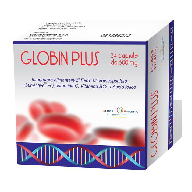 Image of Global Pharma Globin Plus Integratore Alimentare 24 Capsule Da 500mg 931586212