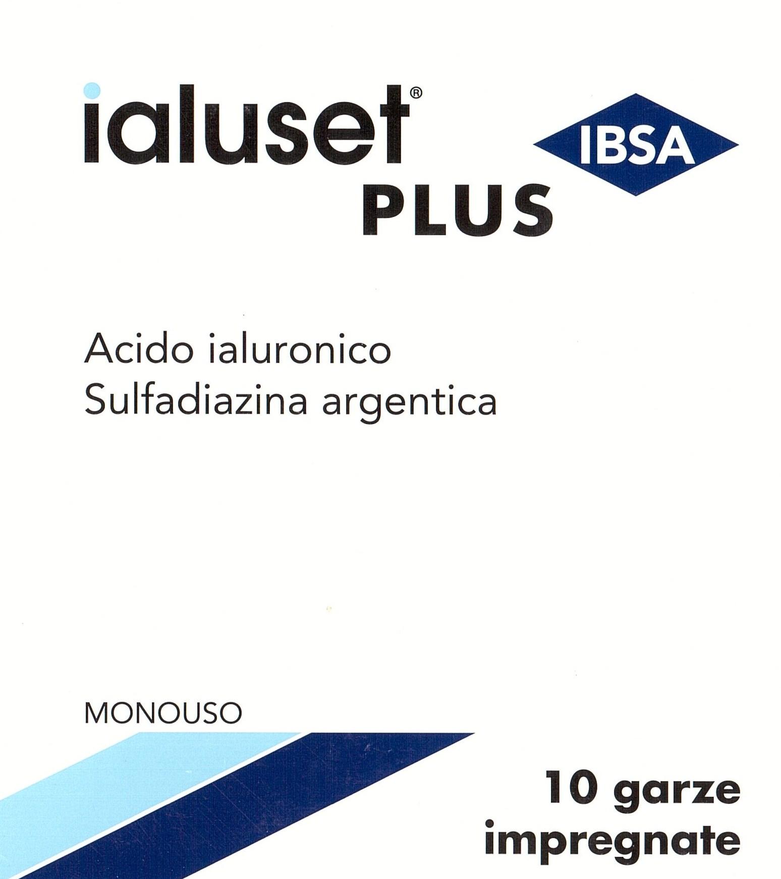 Image of Ibsa Farmaceutici Garza Ialuset Plus 10x10CM 10 Pezzi 931601102