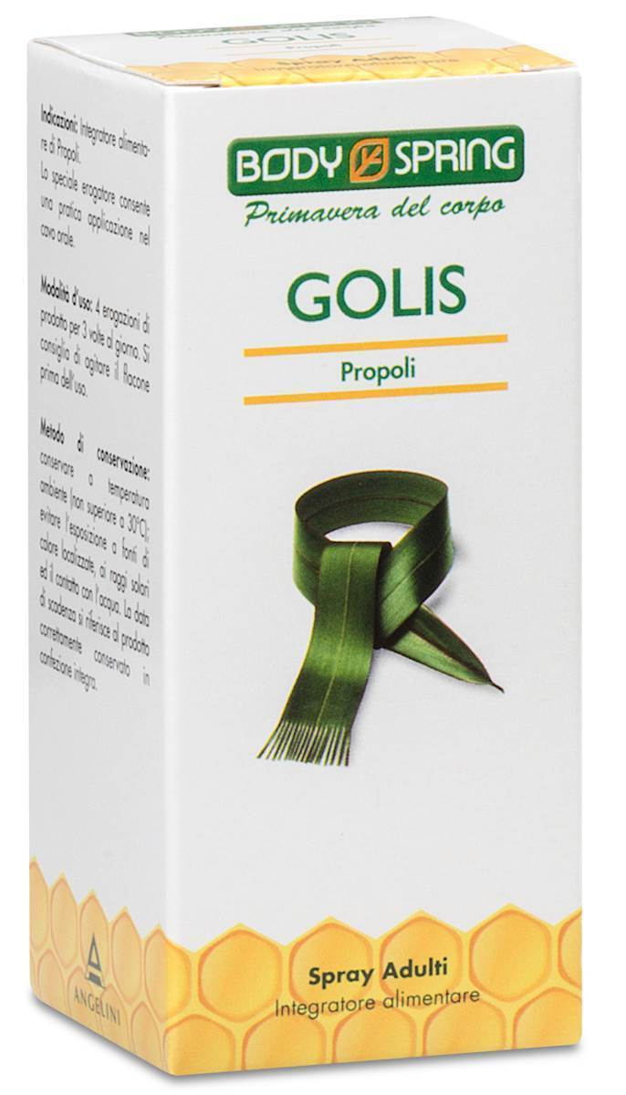 Body Spring Golis Propoli Spray Adulti Integratore Alimentare 25ml