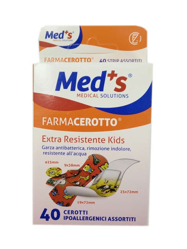 Med's FarmaCerotto Extraresistente Kids 40 Cerotti Assortiti