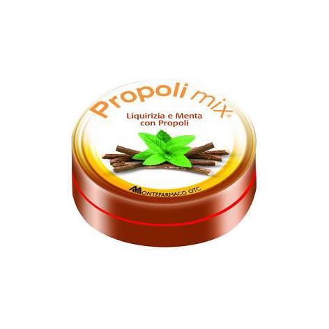Image of Montefarmaco OTC Propoli Mix Caramelle Liquirizia-Menta Integratore Alimentare 30 Caramelle