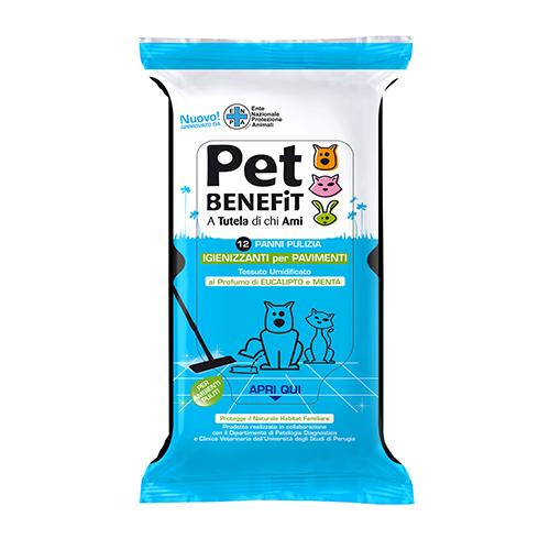 Pet Benefit Panni Pulizia Igienizzanti Per Pavimenti 12 Pezzi