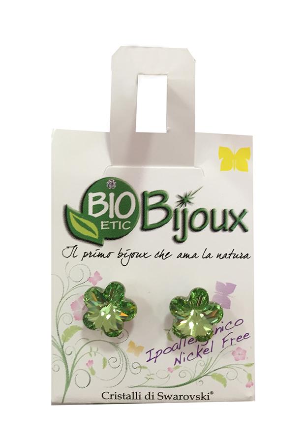 Image of Bioetic Bijoux Orecchino Fiore 10mm Peridot 933431722