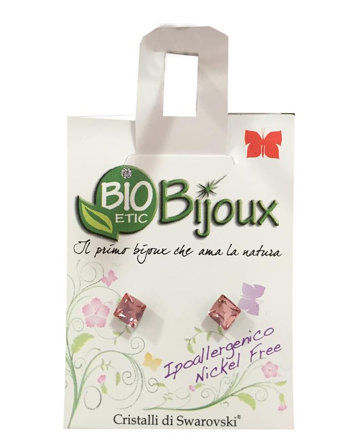 Image of Bioetic Bijoux Orecchino Cubo 4 mm Light Rose 933432054