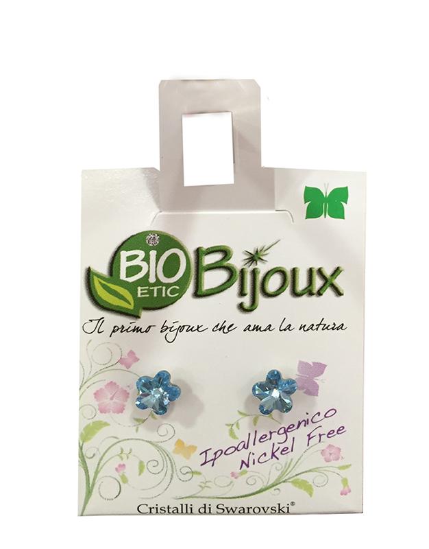 Image of Bioetic Bijoux Orecchino Fiore 6mm Acquamarine 933432686