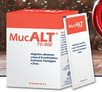 Image of DdFarma Mucalt Tc-600 Integratore Alimentare 20 Bustine Da 4g 933462210