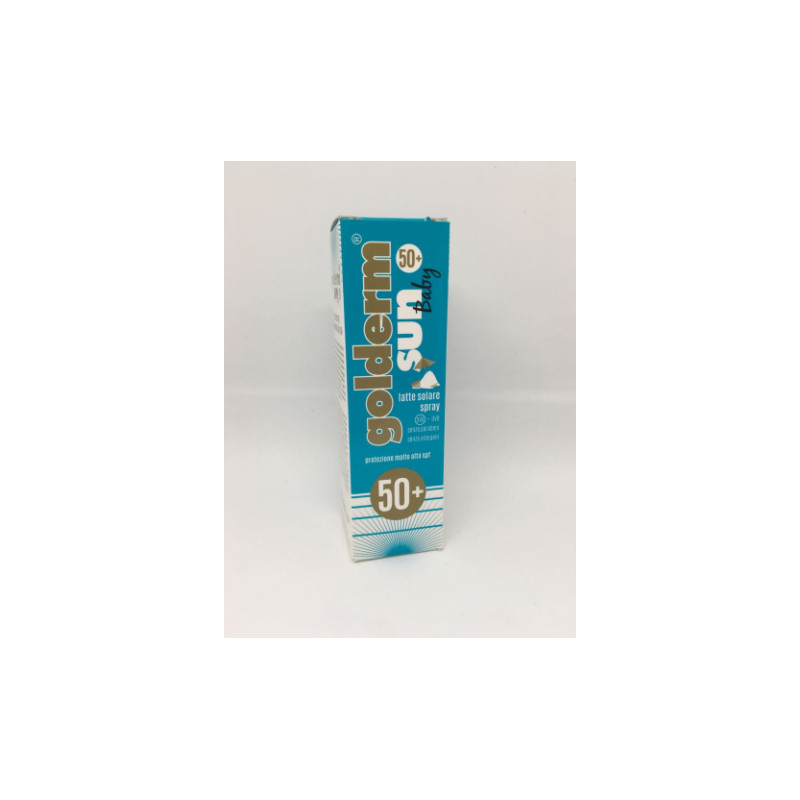 ShedirPharma® Golderm® Sun Baby Latte Solare Spray Protezione Molto Alta Spf50+ 100ml