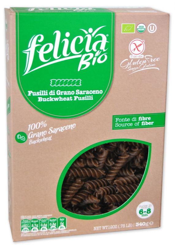 Felicia Bio Pasta Di Grano Saraceno Fusilli Senza Glutine 340g
