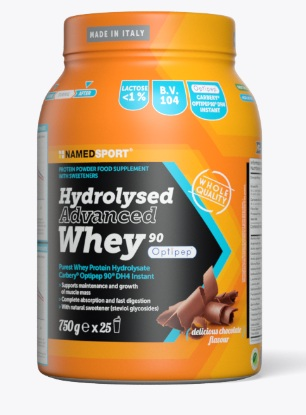 Named Sport Hydrolysed Advanced Whey Delicious Chocolate 750g