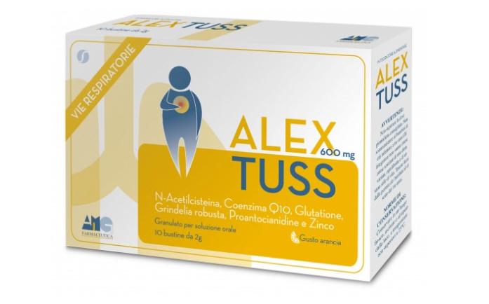 Image of AMG Farmaceutica Alex Tuss Integratore Per La Tosse 10 Bustine 934636820