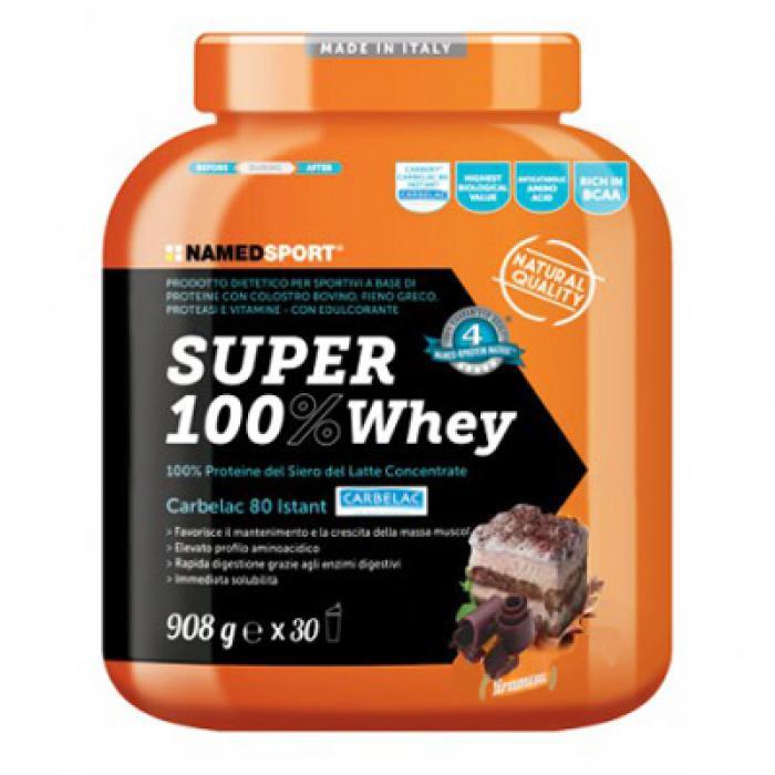 Named Sport Super 100% Whey Proteine Del Siero Del Latte Gusto Tiramisu 908g