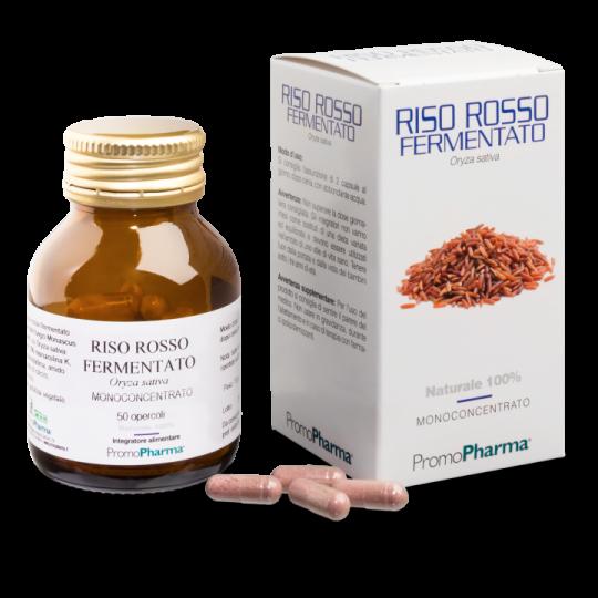 PromoPharma Riso Rosso Fermentato Monoconcentrato Integratore Alimentare 50 Capsule