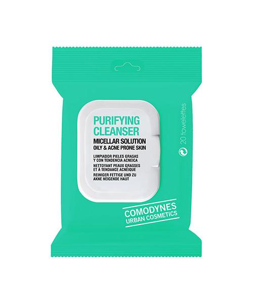 Image of Comodynes Purifying Cleanser Salviette Struccanti Pelle Acneica 20 Salviette