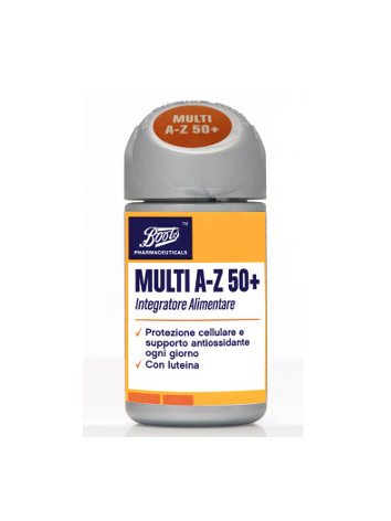 Image of Boots Pharmaceuticals Multi A-Z 50+ Integratore Alimentare 60 Compresse 935054801