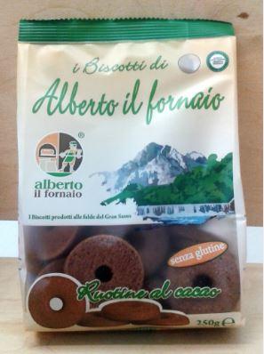 Image of Alberto Il Fornaio Ruotine Al Cacao Frollini Senza Glutine 250g 935550552