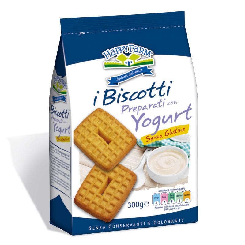 Happy Farm I Biscotti Preparati Con Yogurt Senza Zucchero Senza Glutine 300g
