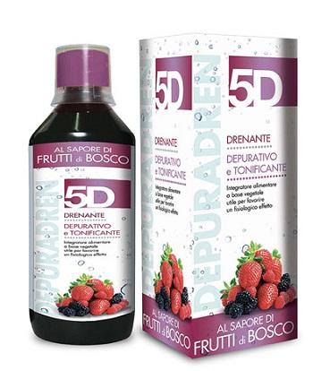 Benefit 5D Depuradren Sleeverato Integratore Alimentare Drenante Gusto Frutti Di Bosco 500ml