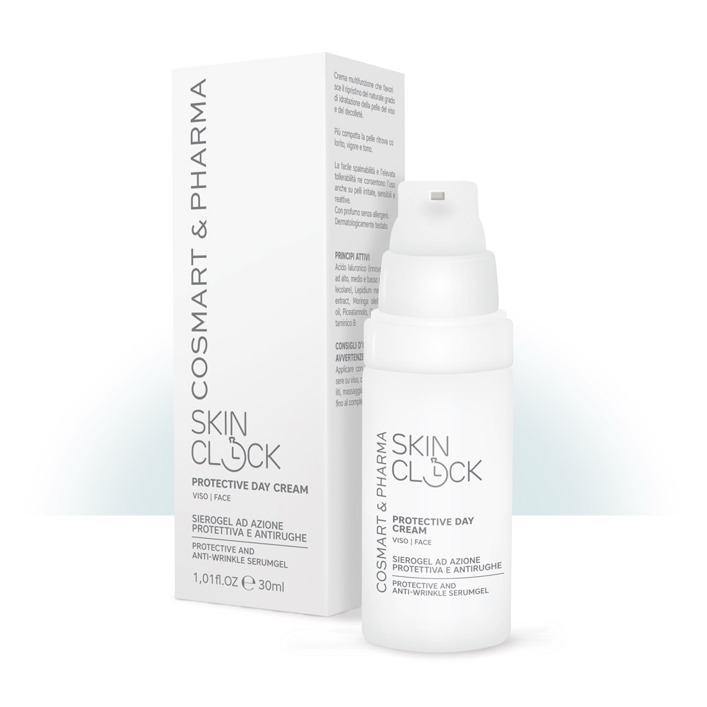 Image of SkinClock Protective Day Viso SieroGel Azione Protettiva e Antirughe 30ml 935773008