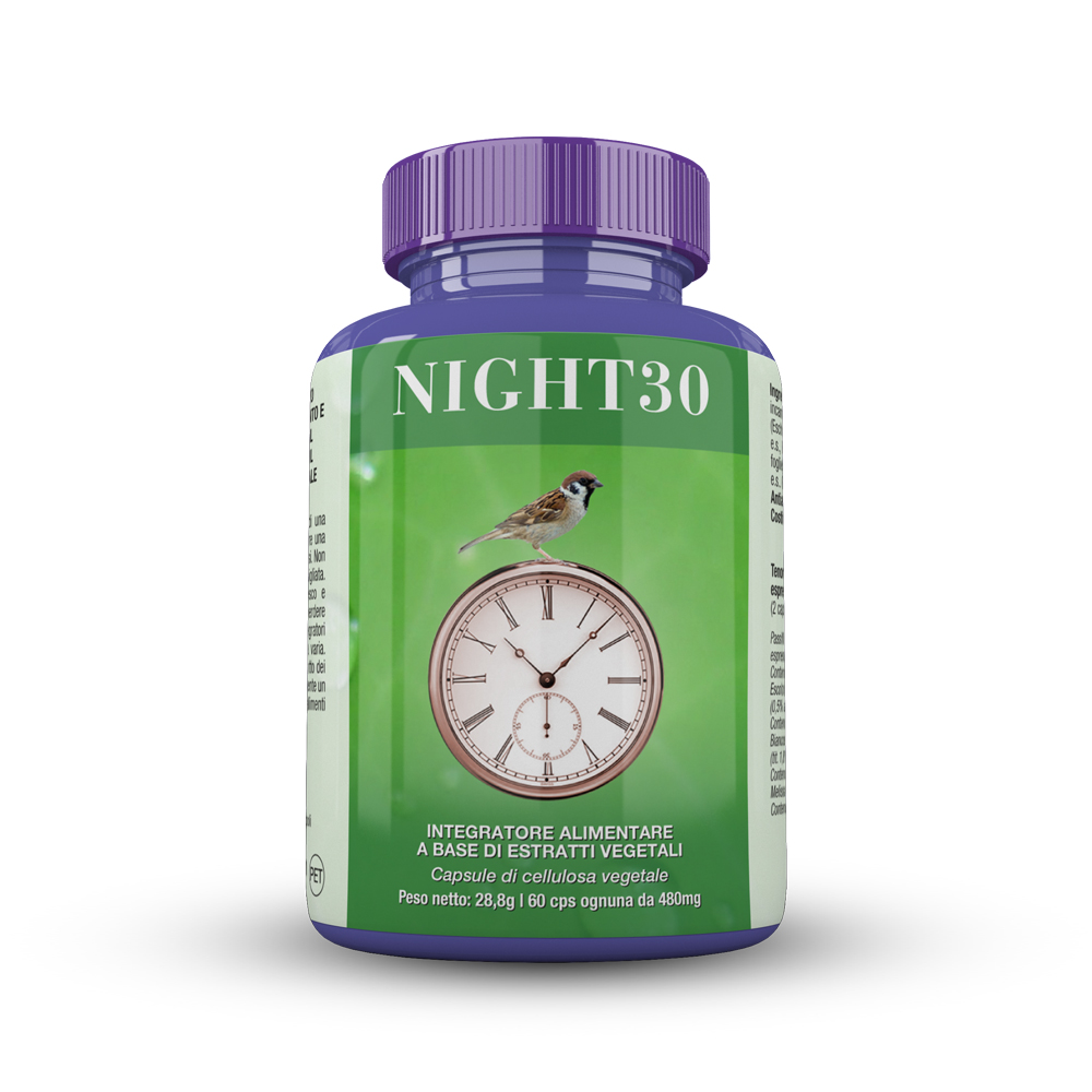 Image of Biosalus® Night30 Integratore Alimentare Integratore Alimentare 60 Capsule