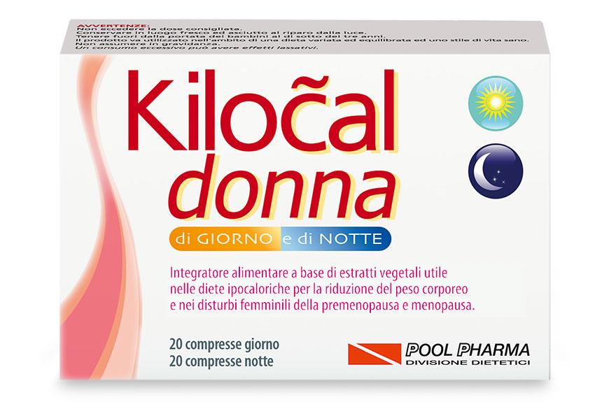 Pool Pharma Kilocal Donna Di Giorno E Di Notte Integratore Alimentare 40 Compresse