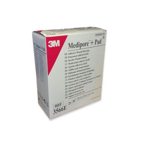 Image of 3M Medipore + Pad Medicazione Sterile In Tnt 10x10cm 939920435