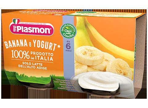 Image of Plasmon Banana Yogurt As 2x120g