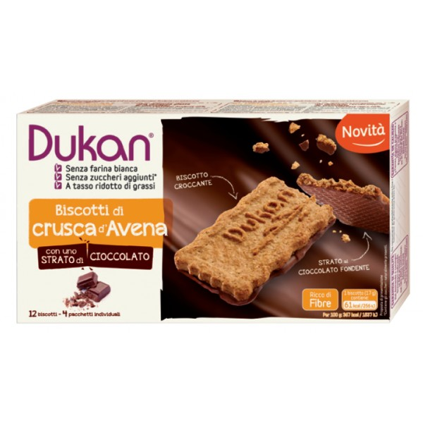 Image of Dukan Biscotti Alla Crusca D'Avena Gourmand 4 Confezioni Da 3 Biscotti 970151825