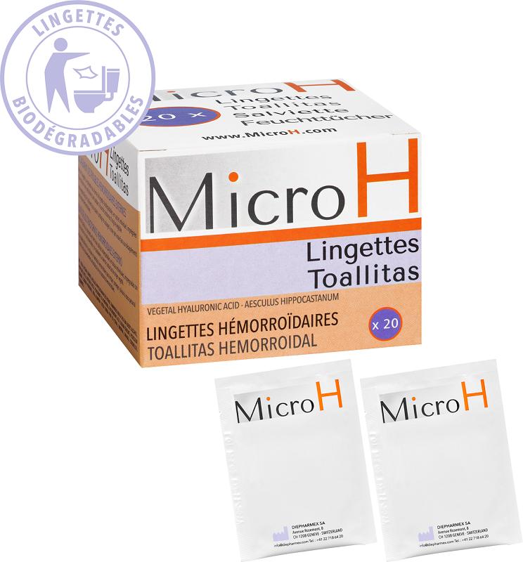 Image of Micro H Salviette Lenitive Emorroidi 20 Salviette 970197772