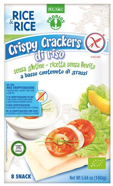 Rice&Rice Crispy Crackers Riso Senza Glutine Senza Lievito 160g