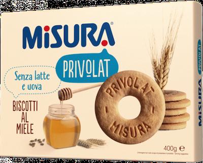 Misura Privolat Biscotto Frollino Con Miele Senza Latte Senza Uova 400g