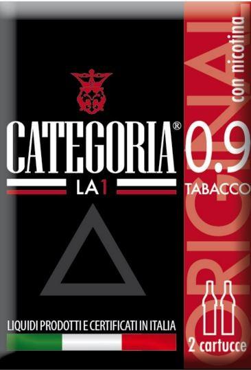 Image of Categoria LA1 Original Tabacco Nicotina 0,9 2 Cartucce 970391443