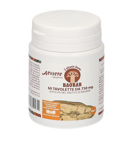 Image of Baobab Aessere Integratore Alimentare 60 Tavolette Masticabili 970439826