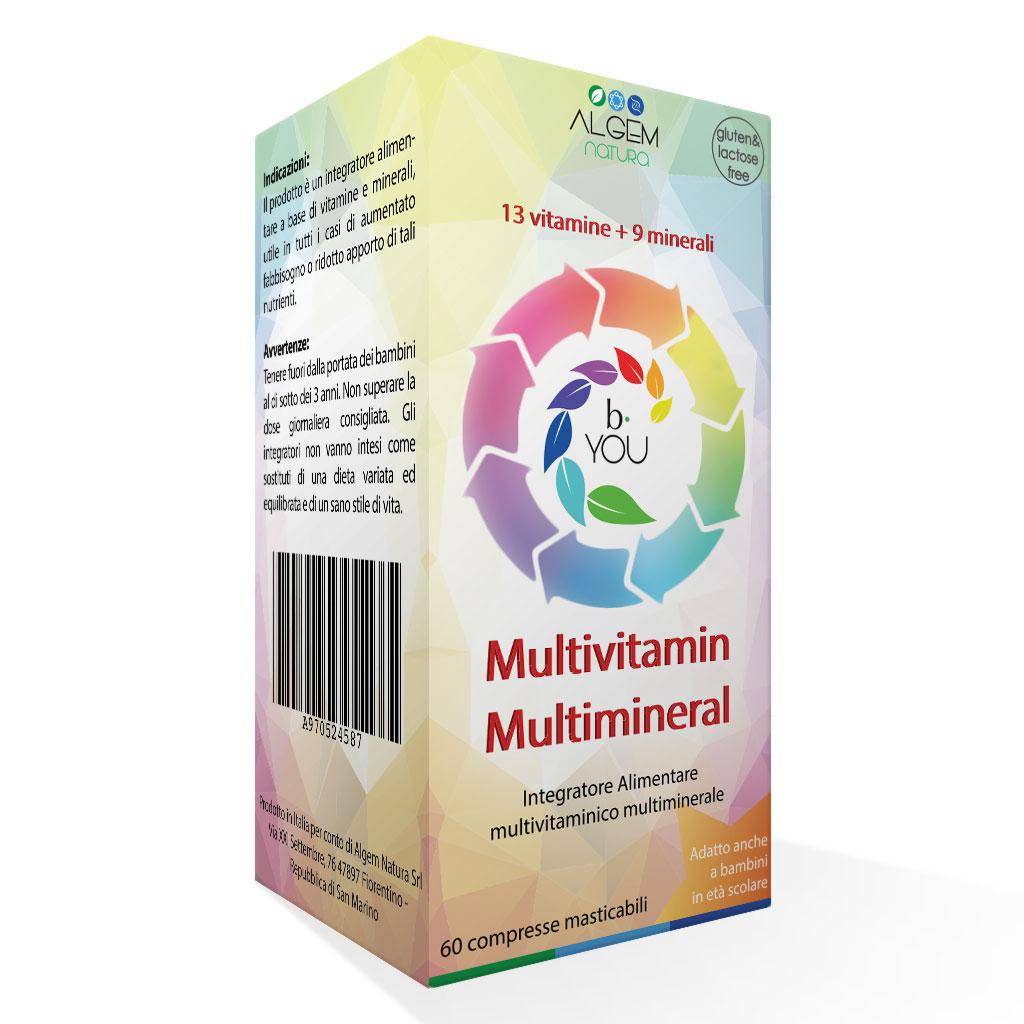 Algem B You Multivitamin Multimineral Integratore Alimentare 60 Compresse