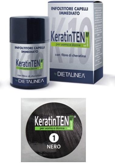 """Image of KeratinTEN"""" Infoltitore Capelli Immediato Colore Nero 12g 970539767"""