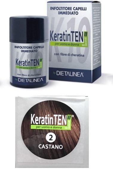 """Image of KeratinTEN"""" Infoltitore Capelli Immediato Colore Castano 12g 970539779"""