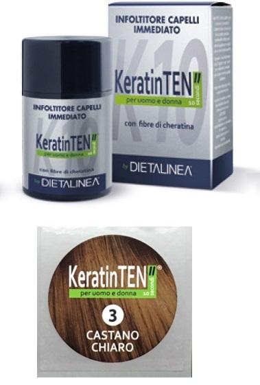 """Image of KeratinTEN"""" Infoltitore Capelli Immediato Colore Castano Chiaro 12g 970539781"""