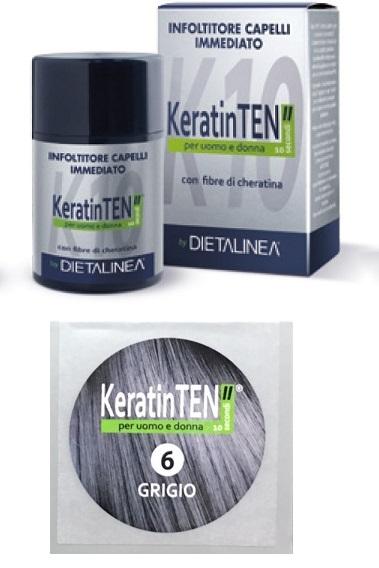 Image of KeratinTEN Infoltitore Capelli Immediato Colore Grigio 12g 970539817
