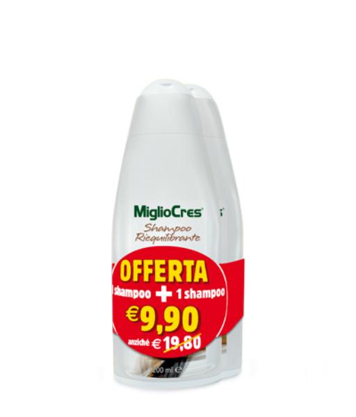 MiglioCres Linea Capelli Classica Shampoo Riequilibrante 2x200ml