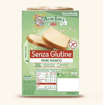 Mulino Bianco Pane Bianco Con Farina Di Riso Senza Glutine 300g