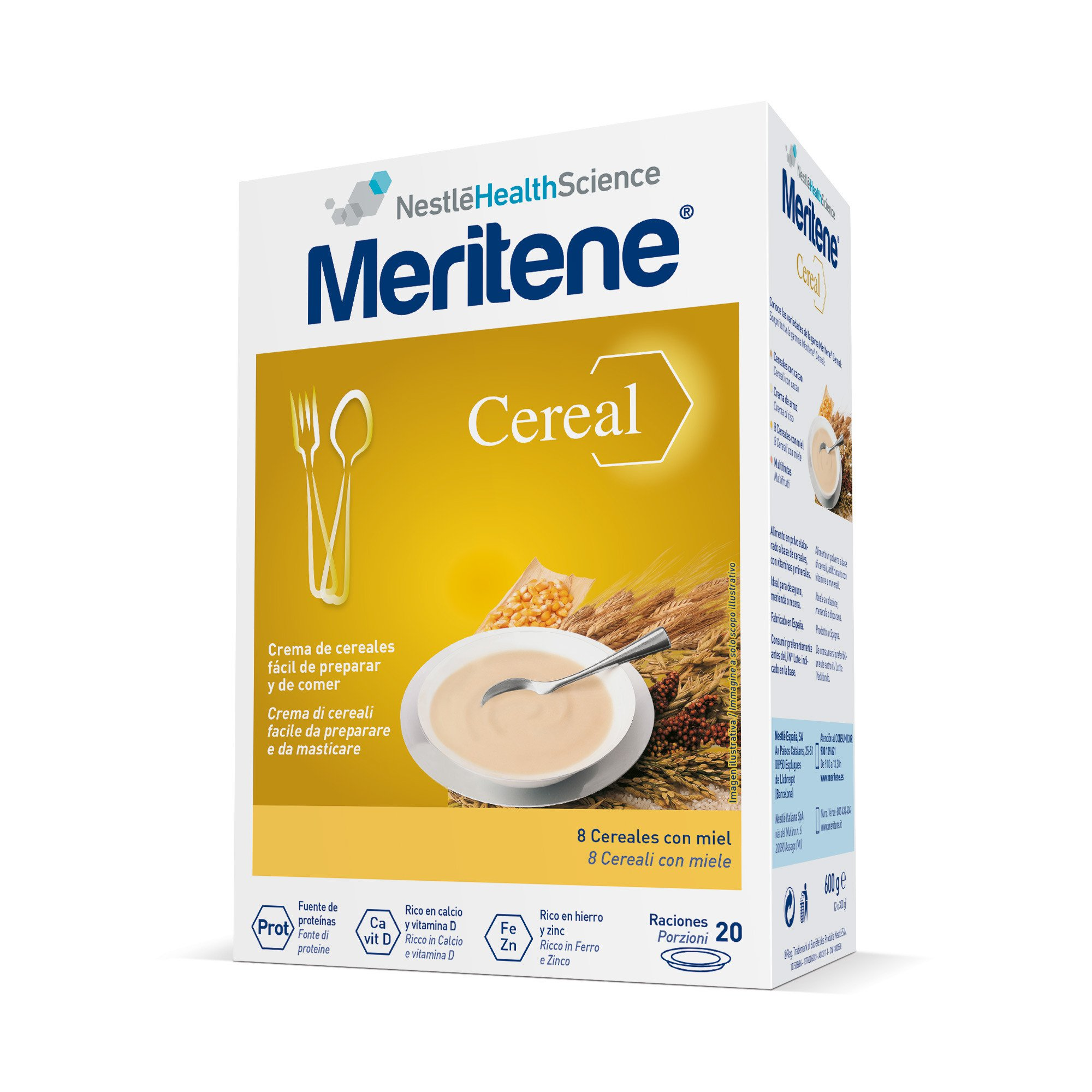 Meritene Cereali 8 Miele Istantaneo 600g
