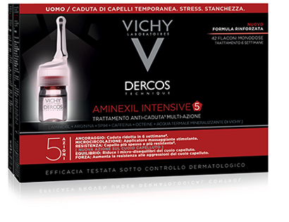 Vichy dercos aminexil intensive 5 trattamento anticaduta uomo 42 fiale