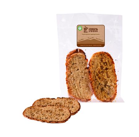 Image of Emra Food Bruschetta Olio Extra Vergine D'Oliva Senza Glutine 4x130g 971115946