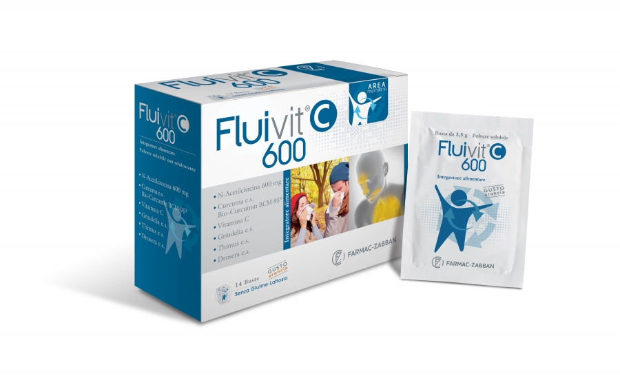 Fluivit C 600 Integratore Alimentare 14 Bustine
