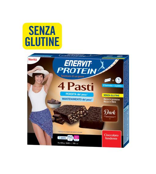 Image of Enervit Protein 4 Pasti Gusto Dark Senza Glutine 8x30g 971117849