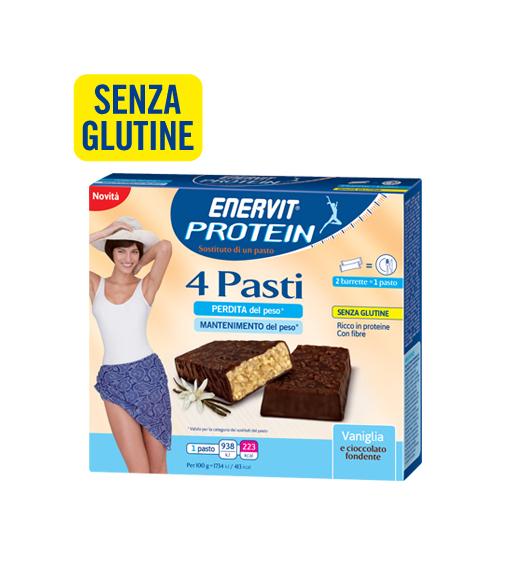 Image of Enervit Protein 4 Pasti Gusto Vaniglia Senza Glutine 8x27g 971117864