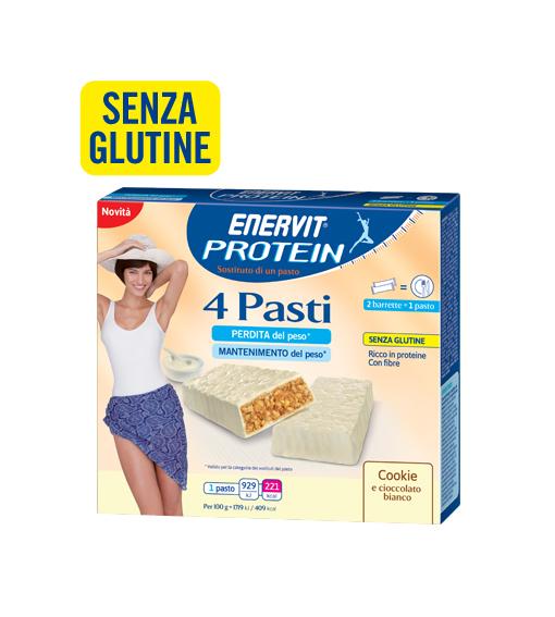 Image of Enervit Protein 4 Pasti Gusto Cookie Integratore Alimentare 8x27g 971117888