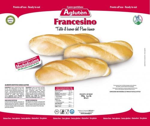 Image of Agluten Francesino Pane Senza Glutine 225g 971122371