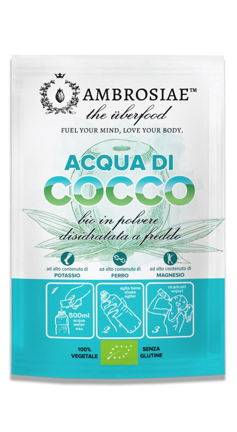 Image of Ambrosiae Acqua Di Cocco In Polvere 30 Bustine 971247275